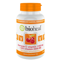 BIOHEAL Acerolás C-vitamin 1100 mg + D3-vitamin 2200 NE 105x