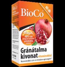 BIOCO Gránátalma kivonat vitaminokkal tabletta (80x)