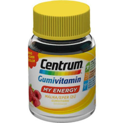 CENTRUM MY ENERGY gumivitamin málna/eper 30x