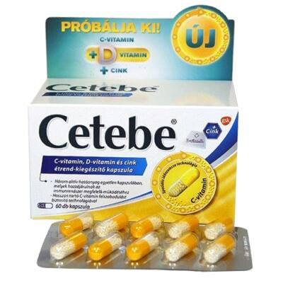 CETEBE C+D+CINK tabletta 60x