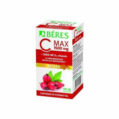 BÉRES C-vitamin 1500mg retard csipkebogyó+D3 3000 NE 90x