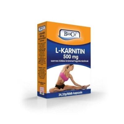 BIOCO L-karnitin 500mg szerves kötésű krómmal kapszula (60x)