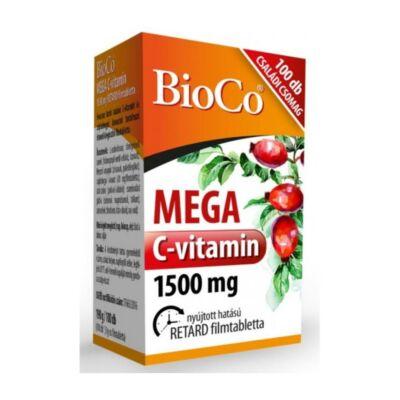 BIOCO Csipkebogyós MEGA C-vitamin 1500mg retard filmtabletta MEGAPACK (100x)