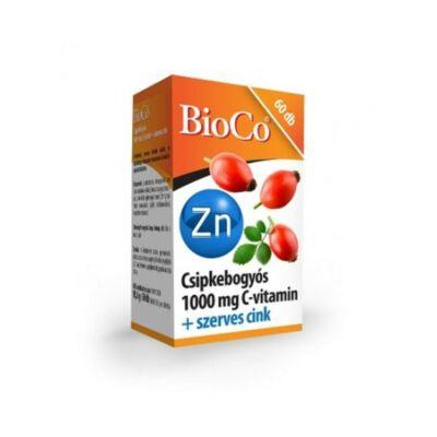 BIOCO Csipkebogyós C-vitamin 1000mg + szerves cink tabletta (60x)