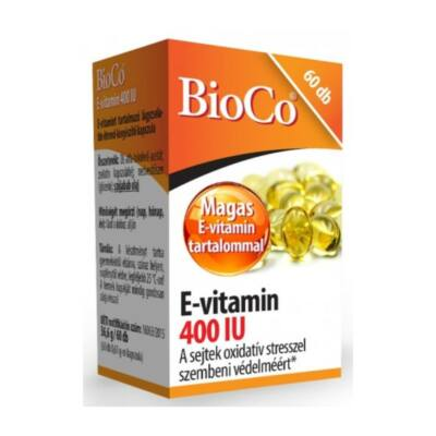 BIOCO E-vitamin 400IU lágyzselatin kapszula (60x)