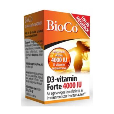 BIOCO D3-Vitamin FORTE 4000NE tabletta MEGAPACK (100x)