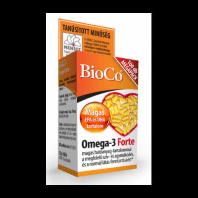 BIOCO Omega-3 FORTE lágyzselatin kapszula MEGAPACK (100x)
