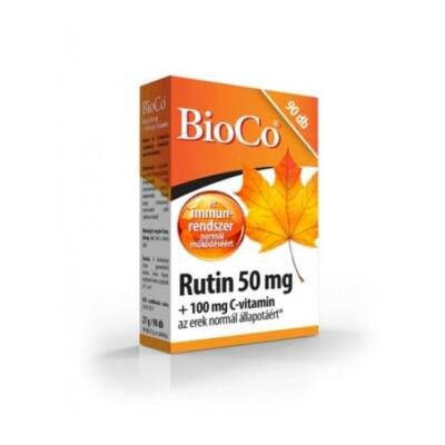 BIOCO Rutin 50mg + 100mg C-vitamin tabletta (90x)