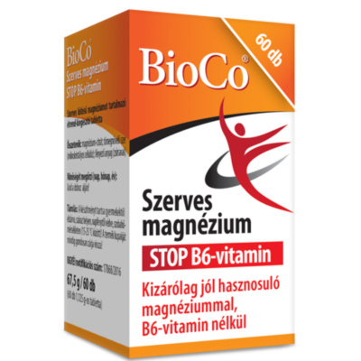 BIOCO Szerves magnézium + STOP B6-vitamin tabletta (60x)