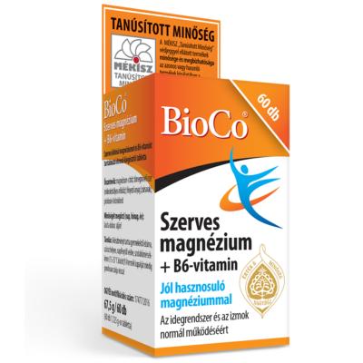 BIOCO Szerves magnézium + B6-vitamin tabletta (60x)