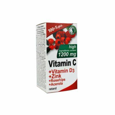 DR.CHEN C-vitamin 1200mg + D3-vitamin + cink retard filmtabletta (105x)