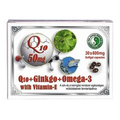 DR.CHEN Q10 + Ginkgo + Omega-3 kapszula (30x)