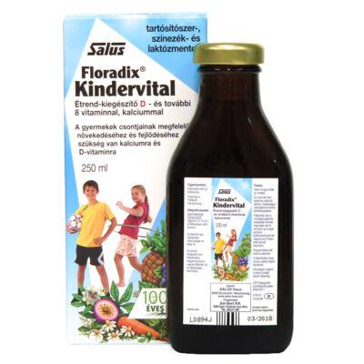 FLORADIX Kindervital D-vitaminnal és 8 vitaminnal kalciummal (250ml)
